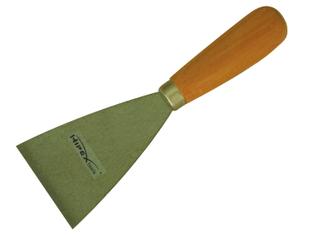 Bevel edge scrapers with metal top