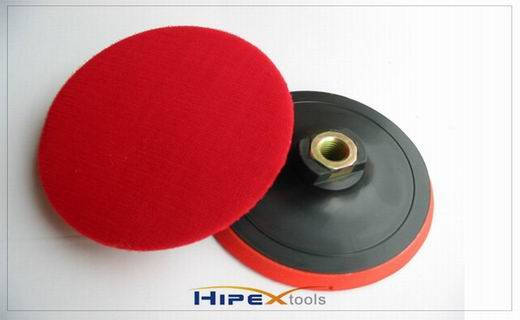 Velcro plastic foam backing pad
