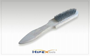 Steel Wire Brush with Wooden Handle (0414001)